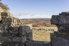 Verlassene Kate von Wester Crannich auf Dava Moor in Schottland lizenzfreies stockfoto