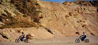 Verlassene Kies-Grube - Motocross 3 Lizenzfreies Stockfoto