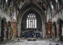 Verlassene Kirche stockbilder