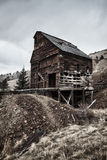 Verlassene Kolorado-Goldmine stockbilder