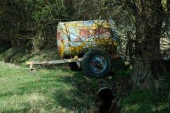 Verlassene landwirtschaftliche Maschinen stockbild
