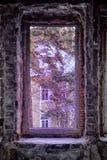 Verlassene Leute nach Hause, blindes Fenster Lizenzfreie Stockbilder