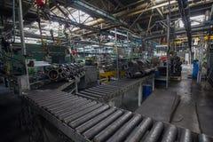 Verlassene LKW-Fabrik Stockfotos