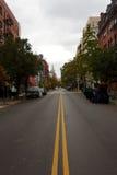 Verlassene NYC Straße nach Hurrikan Sandy Lizenzfreies Stockfoto