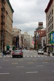 Verlassene NYC Straße nach Hurrikan Sandy Lizenzfreie Stockbilder