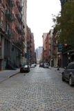 Verlassene NYC Straße nach Hurrikan Sandy Stockfoto