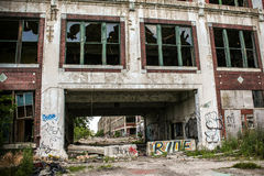 Verlassene Packard-Fabrik 1 Lizenzfreie Stockfotos