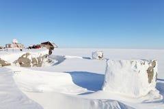 Verlassene polare Station Lizenzfreies Stockbild
