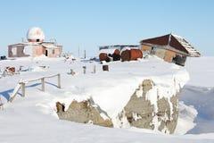 Verlassene polare Station Stockfotos