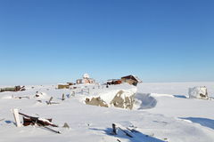 Verlassene polare Station Stockfotografie