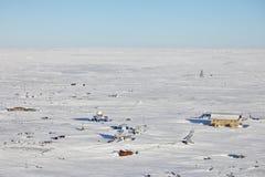 Verlassene polare Station Stockfoto