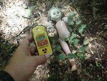 Verlassene Puppe, Tschornobyl Lizenzfreie Stockfotografie