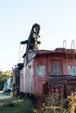 Verlassene Railcars Lizenzfreies Stockfoto