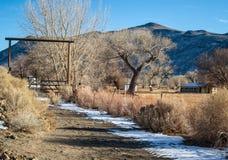 Verlassene Ranch stockfotografie