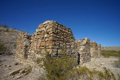 Verlassene Ruinen in der großen Biegung Texas Stockfotos