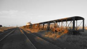 Verlassene Schienenfahrzeuge Stockbild