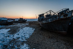 Verlassene Schiffe Stockfotografie