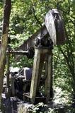 Verlassene Schmieröl-Pumpe stockfoto