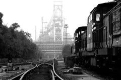 Verlassene Stahlarbeiten Stockfotografie