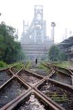 Verlassene Stahlarbeiten Lizenzfreies Stockbild