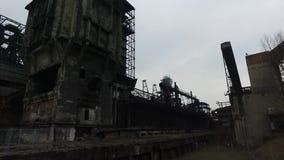 Verlassene Stahlfabrik stock video