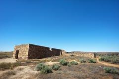 Verlassene Stein-Ruinen Stockbild
