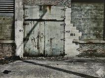 Verlassene Tür Stockfotografie