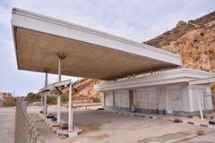 Verlassene Tankstelle entlang Route 66 Lizenzfreie Stockfotos