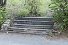 Verlassene Treppe stockbilder