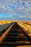 Verlassene Wüsten-Eisenbahn Stockfoto