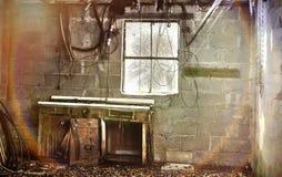 Verlassene Werkstatt Stockfoto