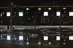 Verlassene Zuckerraffinerie Stockfotos