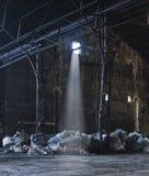 Verlassene Zuckerraffinerie Stockbild