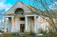 Verlassener Altbau, ehemaliges Haus der Kultur lizenzfreies stockfoto