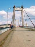 Verlassener alter Bau der großen Technik der Brücke Lizenzfreies Stockbild