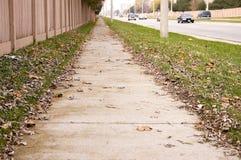 Verlassener Bürgersteig Stockfoto