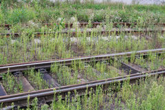 Verlassener Bahnhof Stockfoto