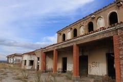 Verlassener Bahnhof in Albacete lizenzfreie stockfotografie