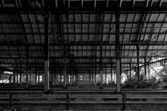 Verlassener Bahnhof in Deutschland Lizenzfreies Stockfoto