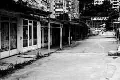 Verlassener Basar und Funfair der nostalgischen Küsten-Stadt - die Türkei stockfotos