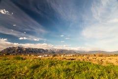 Verlassener Bauernhof in der Landschaft Stockfotografie