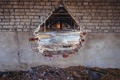 Verlassener Bauernhof in Polen stockfotografie