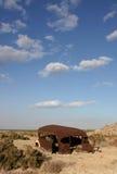 Verlassener Bus in dem Salton Meer Lizenzfreies Stockfoto