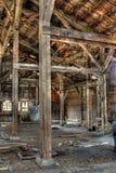 Verlassener errichtender Innenraum lizenzfreies stockfoto