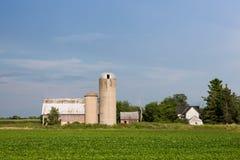 Verlassener Familien-Bauernhof mit Kopien-Raum Lizenzfreies Stockbild