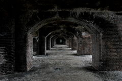 Verlassener Gang des Forts Stockbilder
