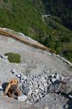 Verlassener Granit Steinbruch Stockbild