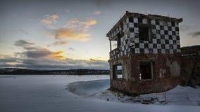 Verlassener Militärflugplatz Stockfoto