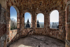 Verlassener Raum im Schloss Lizenzfreie Stockfotos