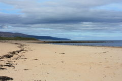 Verlassener schottischer Strand Lizenzfreies Stockfoto